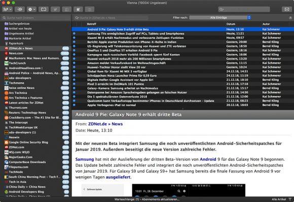 Vienna (Screenshot: ZDNet.de)
